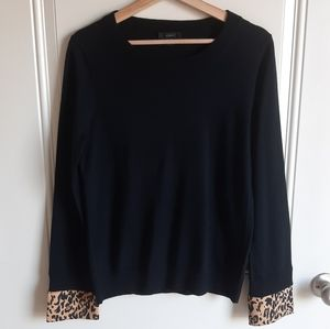 J Crew Black Merino Wool Tippi Sweater Size Medium